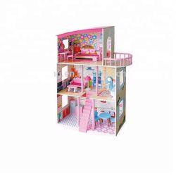 아이 다채로운 실행 학교 소녀를 위한 나무로 되는 인형 집