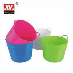 Armazenamento flexível de plástico lavandaria baldes para uso doméstico
