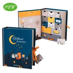 Kundenspezifischer Kind-Aufkommen-Kalender-Spiel-kosmetischer Verfassungs-Kasten-Papierverpackenweihnachtsgeschenk-Kästen