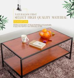 コーヒーテーブルは棚の居間の木のソファーの側面表の環境に優しい丈夫で、容易なアセンブリ現代家具によってセットした