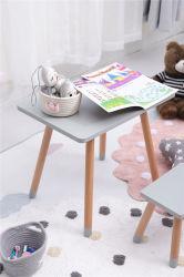 Madera de alta calidad a los niños Plaza de la lectura de juego de mesa y silla mobiliario preescolar