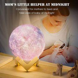 2021 подарок детям LED ночной свет луны 16-цветной лампы 8 см 10 см 15 см 20 см 22см по вашему вкусу крупных операций с плавающей запятой 3D Galaxy лампа луны