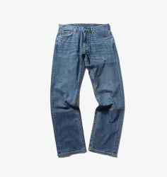 Kundenspezifische Großhandelsform-keucht blaues Baumwollmens-Denim gerade beiläufige Mens-Jeans