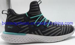 Heißer Verkaufs-Breathable beiläufige Schuhe mit Flyknit oberem modernem
