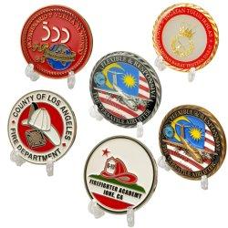 Firmenzeichen-Zink-Legierungs-Andenken-Goldmetallherausforderungs-Münzsilber-Antike-Marineinfanteriekorps-Militär des Hersteller-spricht kundenspezifisches förderndes Geschenk-3D Gedenkscheinmünzen zu