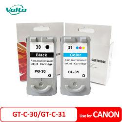 キャノンPixma IP1800 IP2600 MP 140 MP 210 MP 470 Mx 300 Mx 310のインクジェット・プリンタのための互換性のあるキャノンGtC 30 GtC 31 Pg30 Cl31のインクカートリッジ