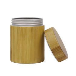250 g de cuidados da pele pacote de embalagens biodegradáveis Tubo Reto de bambu podem