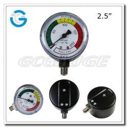2.5-inch capsule Low Black Steel Bottom Mount Single Membraanmembraan Medical Drukmeter