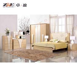 Nuevo diseño del Hotel de madera juego de dormitorio con luz LED