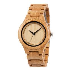 Mens Madeira assistir mulheres Madeira Bambu Watch Quartz Relógio de madeira