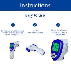 La température du corps sans contact numérique Front Thermomètre IR INFRAROUGE