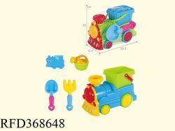 Ingeniería de juguete de plástico de juguete de Coche tren playa Playa carretilla establecer bebé juguetes de playa