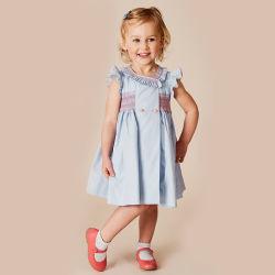 Commercio all'ingrosso del pannello esterno della principessa Dress Cotton Embroidered Children dolce dell'arco delle ragazze di usura dei bambini spagnoli del vestito in linea caldo dalla celebrità