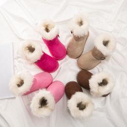 여아용 겨울부츠 어린이 아기 토끼모피는 포근한 포근한 포근한 느낌을 줍니다 면 스노우 부츠