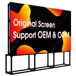 China Fabricación Full HD de 46 pulgadas LCD TV KTV etapa de fondo de la pared de vídeo LCD de 3,5 mm con bisel