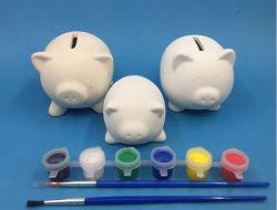 Все виды | Стандартные Promotin продаж подарок DIY краски керамики имеет ступенчатую конструкцию банк DIY краски несут DIY животных денег .