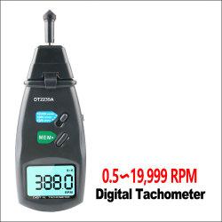 LCD ディスプレイ付きデジタルレーザータコメータ接点 Tach 0.5 ~ 19999rpm