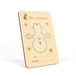 カスタム木製の切り分けるクラフトの挨拶状のクリスマスのギフト