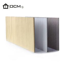 Parede exterior de madeira de fibra de Grãos da Placa de cimento tapume