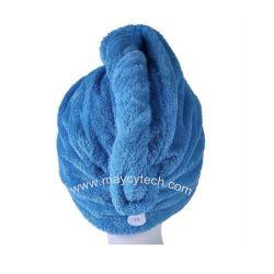 Forte de absorção de água turbante de cabelo toalha, enrole os banhos de cabelos longos Turco Pac Candy Toalha de cores