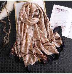 Llanura mayorista 100%puro colorido Pañuelo de seda