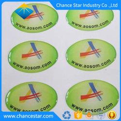 A publicidade personalizada 3D Rótulos abobadadas epóxi, Etiqueta de cristal de epóxi