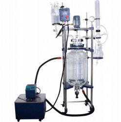 مفاعل زجاجي سعة 5 لترات - 100 لتر - مفاعل كيميائي - مفاعل حيوي