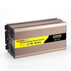 2000W UPS 12V/24V/48 110V/220V DC 純正弦波パワーインバータ 充電器付き