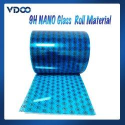 9h Nano material del rollo del protector de la pantalla de cristal, rodillos del protector de la pantalla del amortiguador para el corte de la máquina del laser