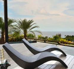 Оптовая торговля открытый плетеной стул лежа на кровати под открытым небом на пляже у моря бассейн плетеной кресла творческих плетеной Arc лежа кровать