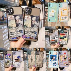 Sentir la piel del teléfono móvil inteligente caso a los golpes Celular traslúcida Cubierta Shell para iPhone