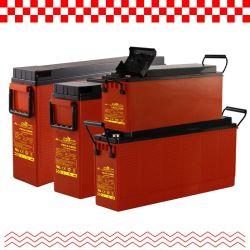 Batteria CsBattery 12V 55ah/80ah/100ah/150ah/180ah/200ah terminale di accesso frontale-terminale sottile AGM/gel batteria per pannello solare/pompa/Carrello da golf/utensile elettrico/motori/CSP