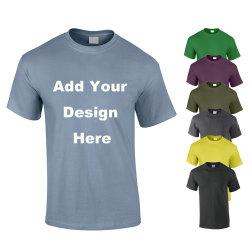 OEM カスタムロゴプリント方法綿 100% ストリートウェアプレーンメンズ T シャツ