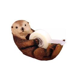 Erogatore animale sveglio del nastro della lontra della resina del supporto del rullo degli articoli per ufficio di banco dell'organizzatore dello scrittorio della cancelleria
