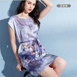 Женские платья из переработанного полиэстера атласный шелк Nightwear Sleepwear короткое замыкание