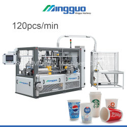 Contenitore di vetro della ciotola a gettare ad alta velocità della tazza di carta di Mg-C800 120PCS/Min che si forma facendo prezzo della macchina per la tazza bevente dell'acqua fredda calda del caffè producendo strumentazione