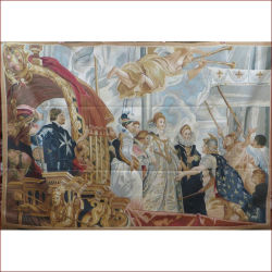 صور الزيتية الطلاء الدين تصاميم الجدار معلقة مسطحة فاحشة منسوجة يدويا الفرنسية من نوع أوبوسون السعر المخصص المطرز