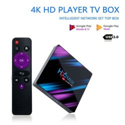 H96 Android Market 9.0 Smart Caixa TV RK3318 4GB+32GB H. 265 4K Google Media Player H96 Max Set Top Box