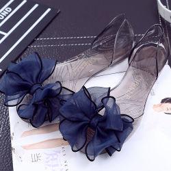 Новый лук цветочный желе обувь прозрачных плоских благоухающем курорте рыб во рту Бич опорной части юбки поршня