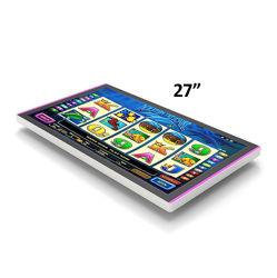 Rack de montaje Vesa incrustado de bastidor abierto de 27 pulgadas multi touch Monitor LED pantalla plana con FHD LCD TFT pantalla IPS anverso y reverso de la barra de LED Compatible aristócrata Helix