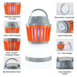 Outdoor Wasserdicht USB wiederaufladbare Solar LED Moskito Killer Lampe elektrisch Mückenkiller Griff Mückenlampe für Camping