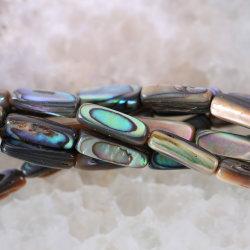 blauw 7X17mm Natuurlijke Abalone Shell van de Juwelen van de manier van Nieuw Zeeland maakt Parel los