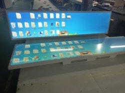 Bar de strip e visor LCD multi-jogador de Publicidade de Sinal Digital TFT LCD ecrã ultra panorâmico de 28 polegadas de tela de barras estiradas