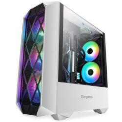 OEM 맞춤형 RGB 게임 케이스 - 공기 CPU 쿨러 지원 - 팬 3개 USB 3.0 - HDD/SSD - 수냉식 냉각 데스크탑 ATX 타워 PC 컴퓨터 케이스