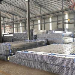 Galvanisiertes materielles rechteckiges Rohr des Tianjin-grünes Haus-BS1387 vor quadratisches Stahlmetallflußstahl-des Gefäß-Q235 Q345 Stk400