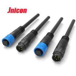Mini connettore impermeabile del collegare di Jnicon M12 5pin per illuminazione del LED