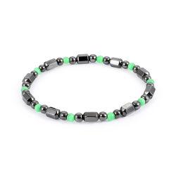Cordon de bijoux artisanaux unisexe petite perle d'Hématite Bracelet stretch