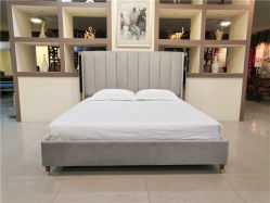 금속 장식의 침실에 있는 현대적인 벨렛 킹사이즈 침대