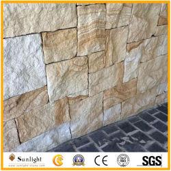 Natuurlijke gele zandsteen voor buitenwandtegels en bouwwerken