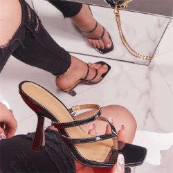Comercio al por mayor zapatos de moda mujer Zapatillas de verano zapatos de tacón alto sandalias zapatos Dama Zapatos de damas